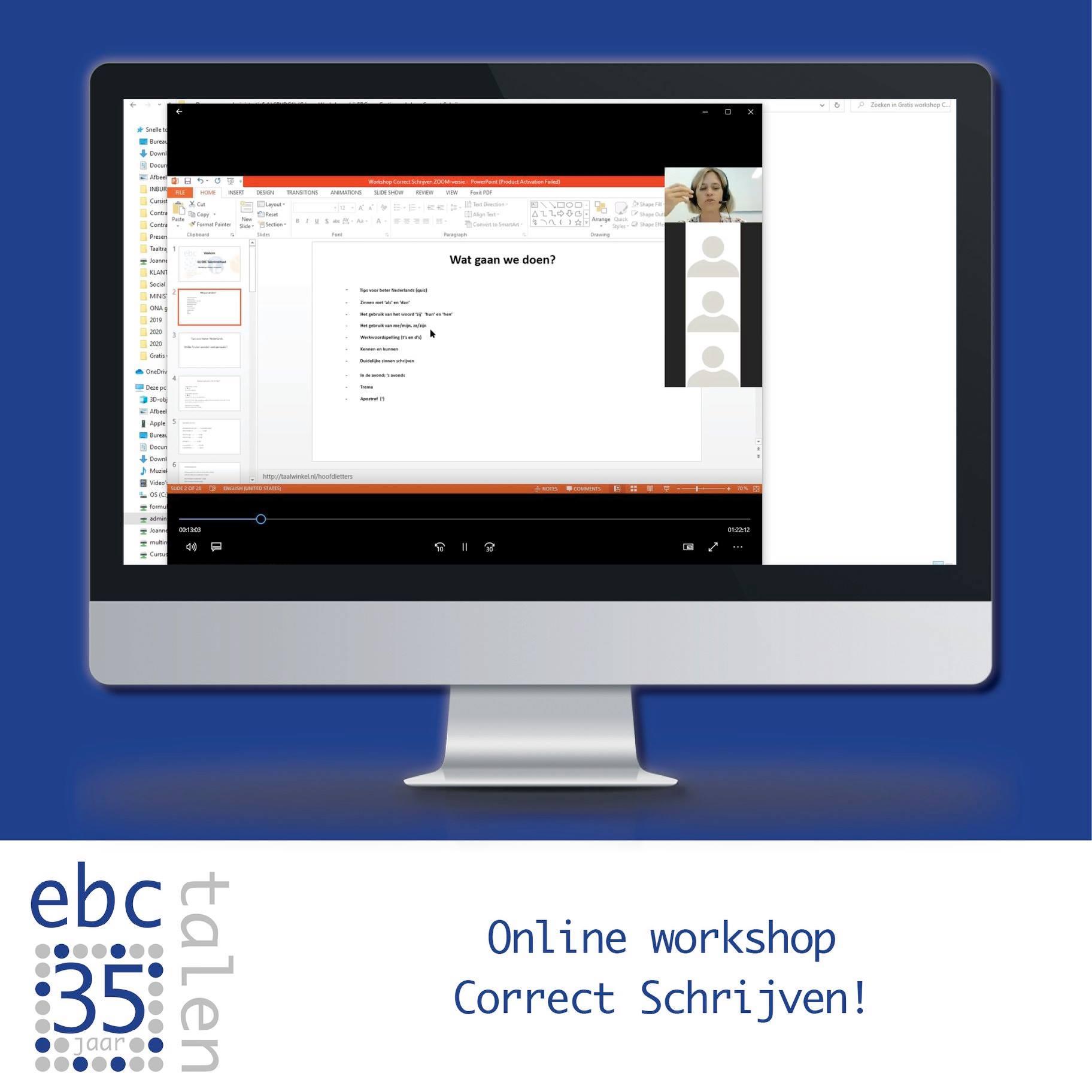 Online workshop 'Correct Schrijven'