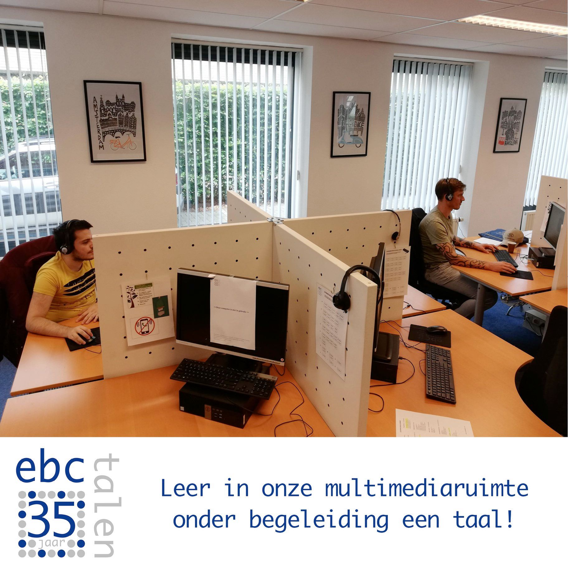 De multimediaruimte van EBC Taleninstituut