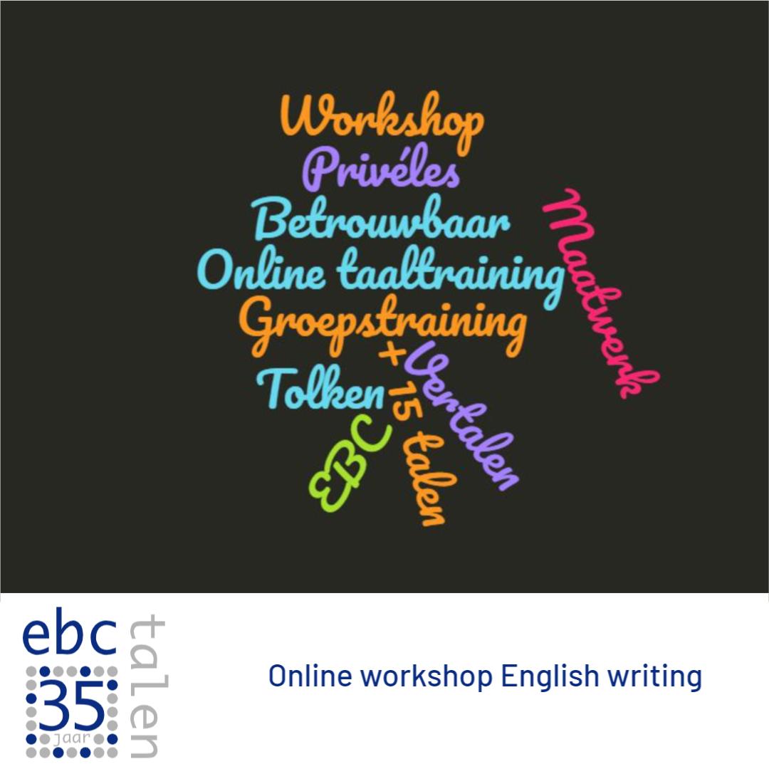 Schrijf je in voor onze online workshop English writing!